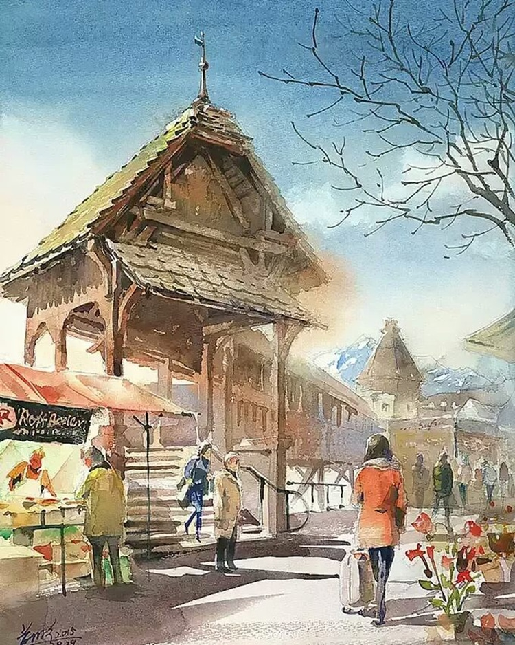 Watercolor Paintings by Kwan Yeuk Pang