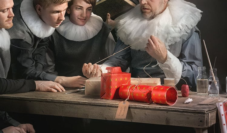 Stig Dirdal Rembrandt inspired Christmas card