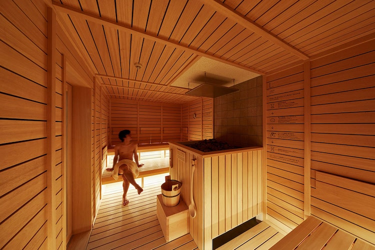 sauna do-c capsule hotel tokyo