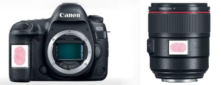 Canon Fingerprint ID Patent
