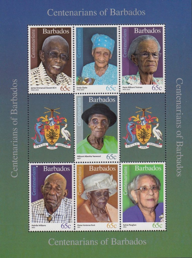 Centenarians of Barbados Stamps