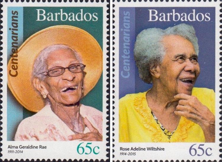 Centenarians of Barbados Stamps