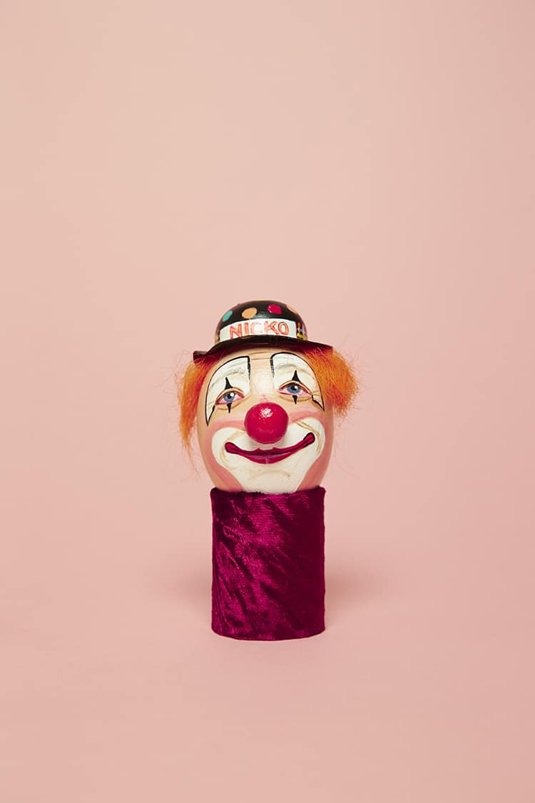 Clown Egg Paintings by Luke Stephenson