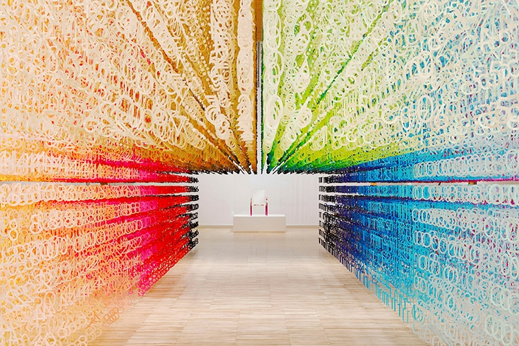 Color of Time Rainbow Installation by Emmanuelle Moureaux