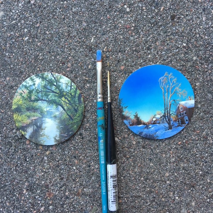 Miniature Art Painting by Dina Brodsky