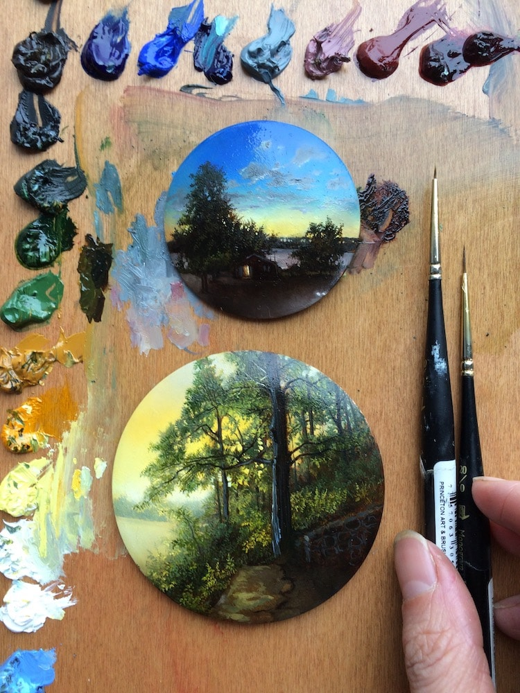 Miniature Landscape Art by Dina Brodsky