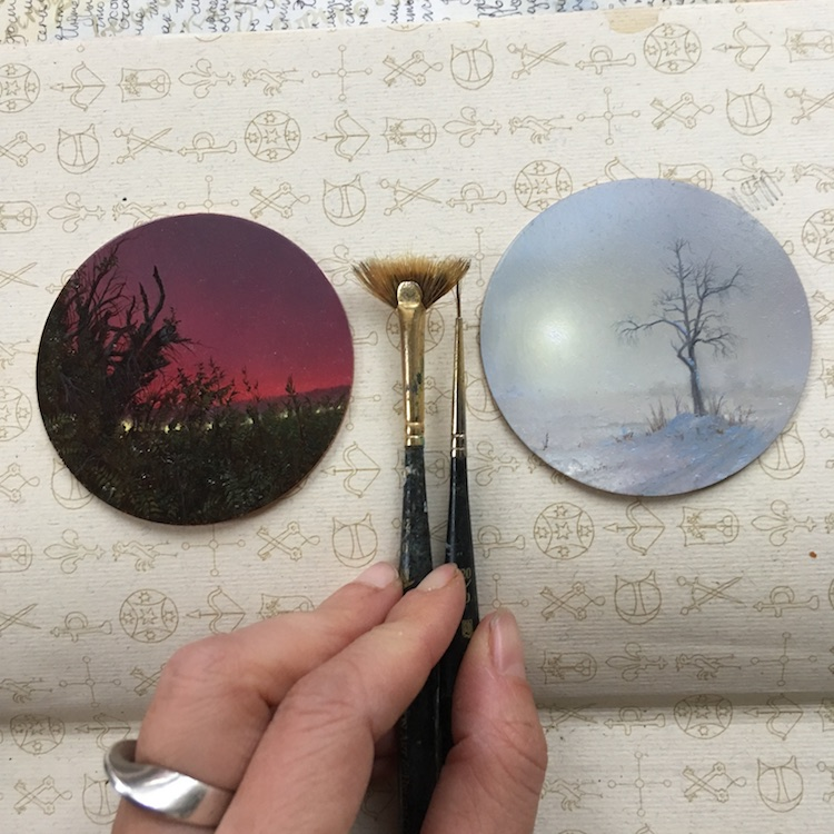 Artist Creates Miniature Landscape Paintings Based On