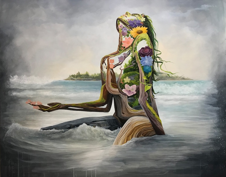 Mother Earth Female Portrait Brian Kirhagis Treason Gallery