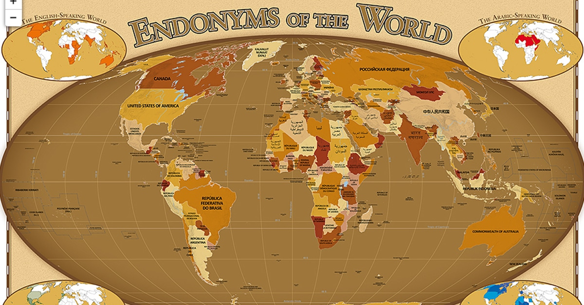 Endonym maps labels countries with their local names gumiabroncs Image collections