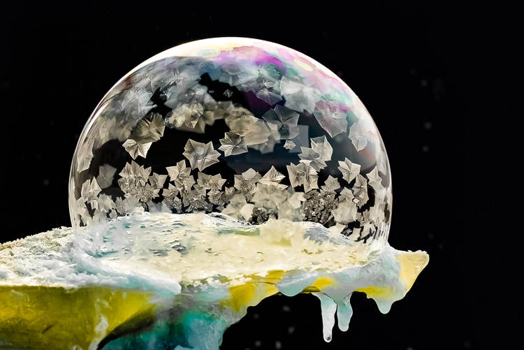 Frozen Bubble Photos by Hope Carter