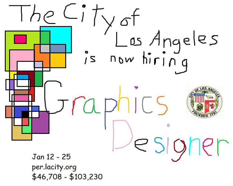 Graphic Design MS Paint Job Posting by The City of Los Angeles