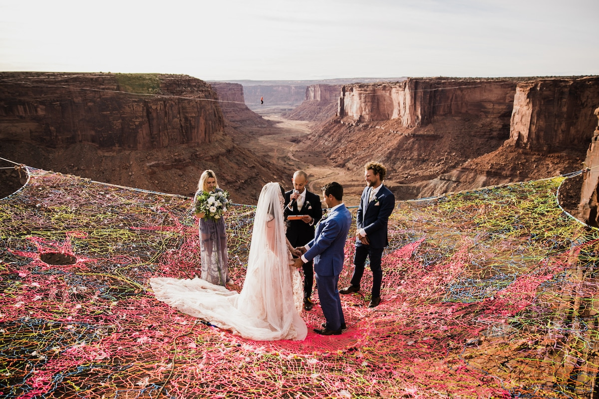 Extreme Wedding Pictures in Moab Utah