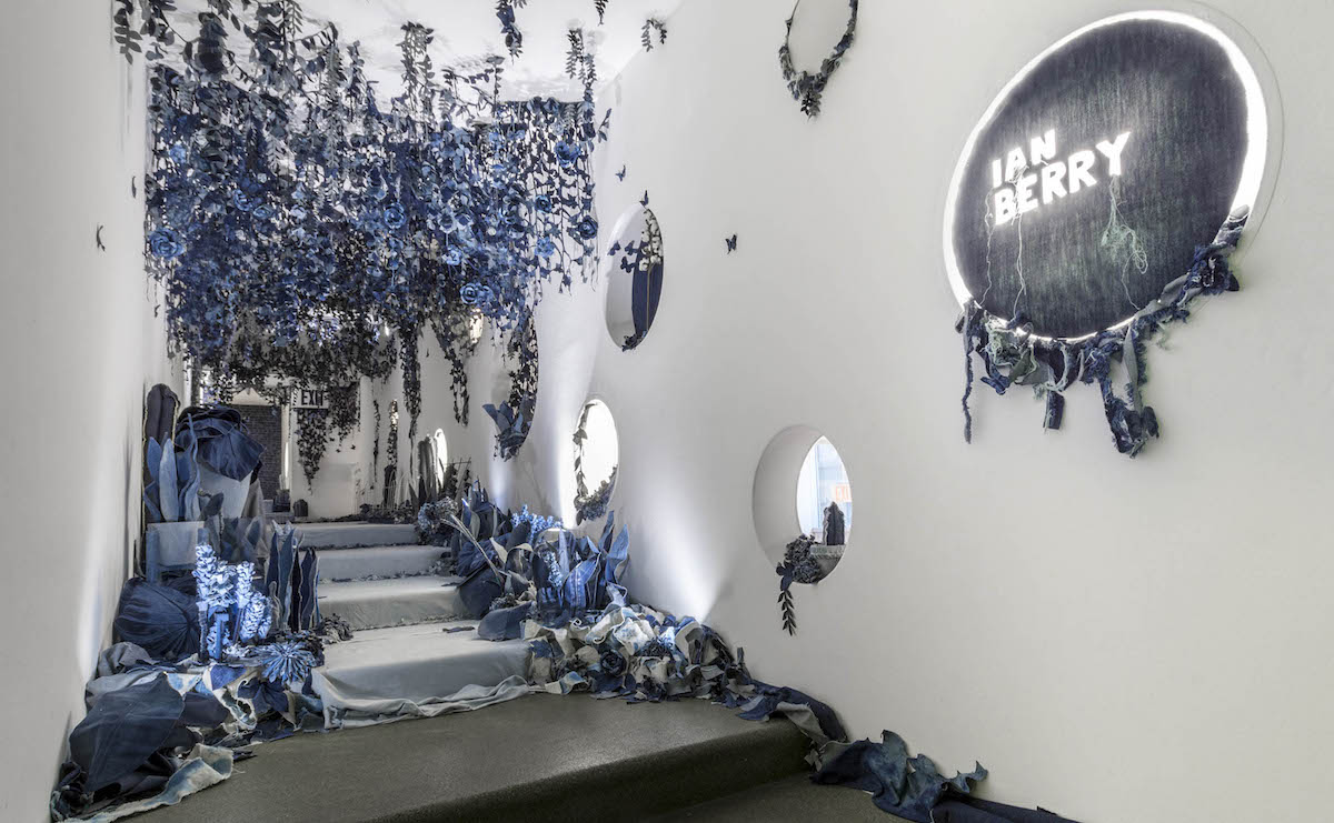 Ian Berry Denim Art Jeans Art Secret Garden Installation