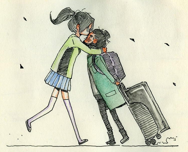 Artist In Long Distance Relationship Illustrates The First Time He