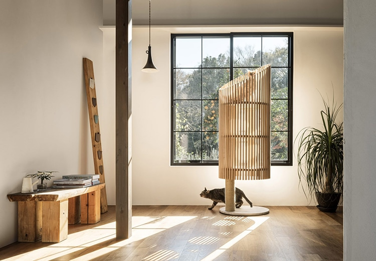 Japanese Designer Creates Stylish Cat Furniture for a Minimalist Home