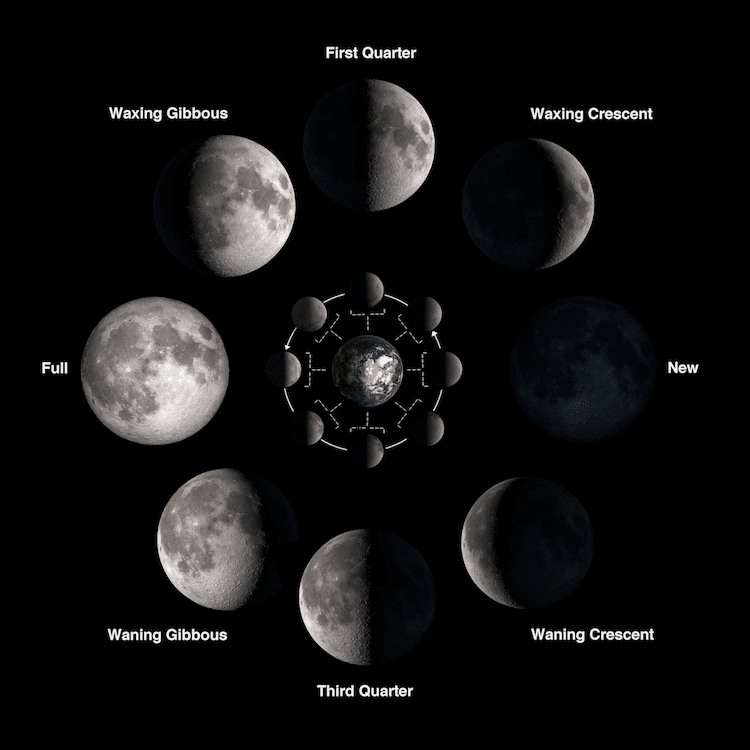 Moon Phases Calendar.Nasa S Diy 2018 Moon Phase Calendar And Calculator