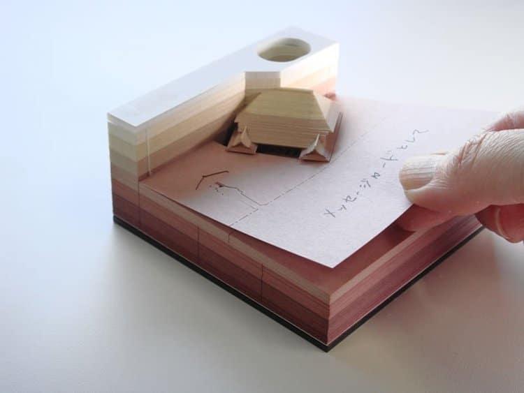 Omoshiro Block Memo Pad Japanese Architecture Stationery