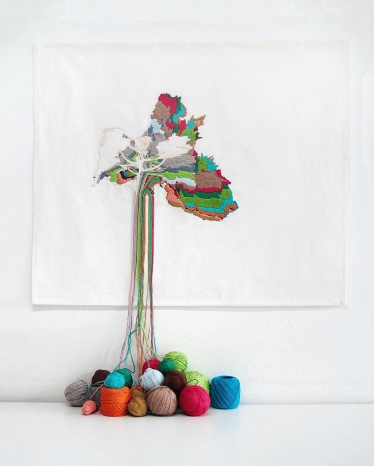 Plant Life Textile Art by Ana Teresa Barboza