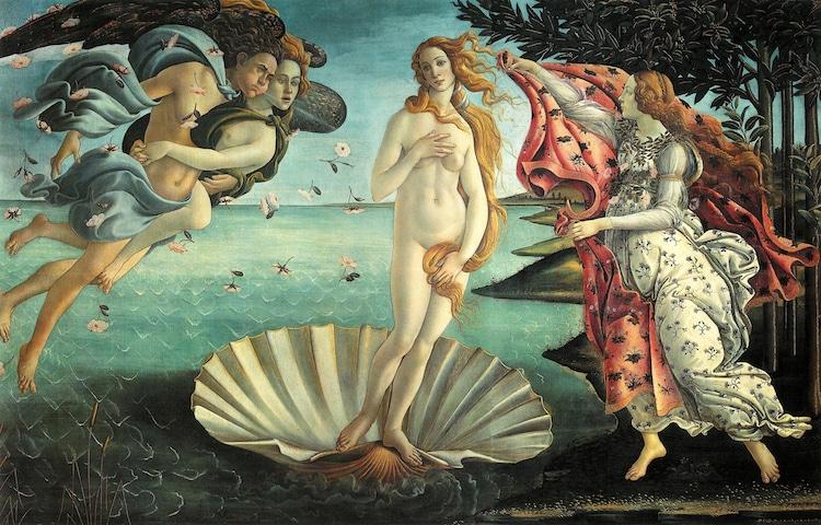 Famous Renaissance Artists Botticelli Birth of Venus