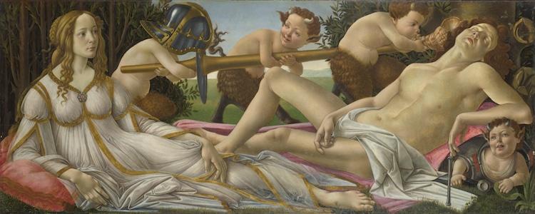 Famous Renaissance Artists Botticelli Venus and Mars