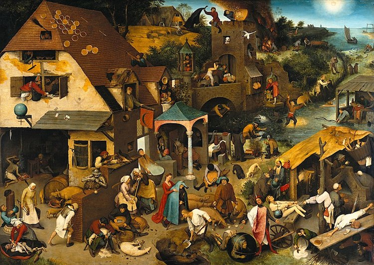 Famous Renaissance Artists Bruegel the Elder Netherlandish Proverbs