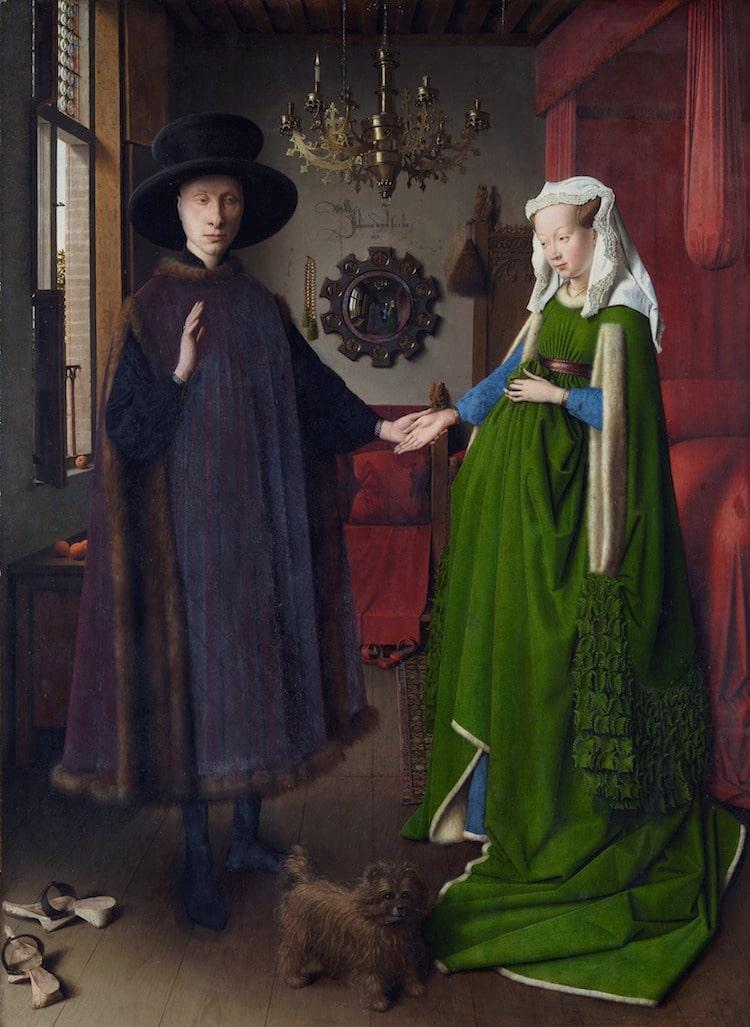Retrato de Giovanni Arnolfini y su esposa de Jan van Eyck