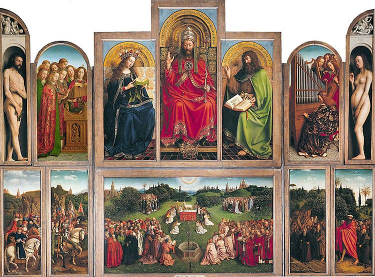Famous Renaissance Artists Van Eyck The Ghent Altarpiece