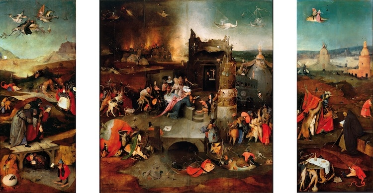 Famous Renaissance Artists Bosch The Temptation of Saint Anthony