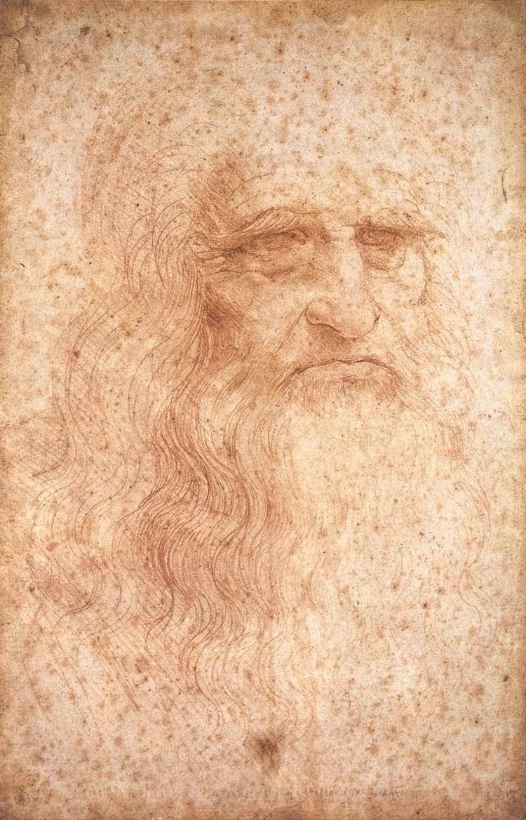 Famous Renaissance Artists Leonardo da Vinci Portrait of a Man in Red Chalk