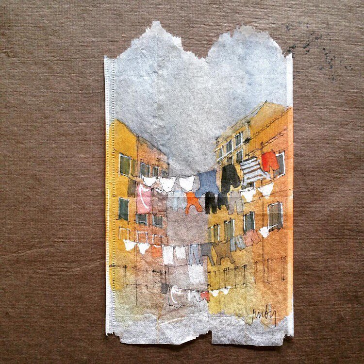 Tea Bag Paintings by Ruby Silvious