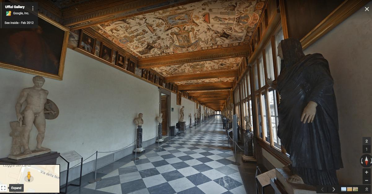 Virtual Tour Of Uffizi Gallery Florence Lets You Explore