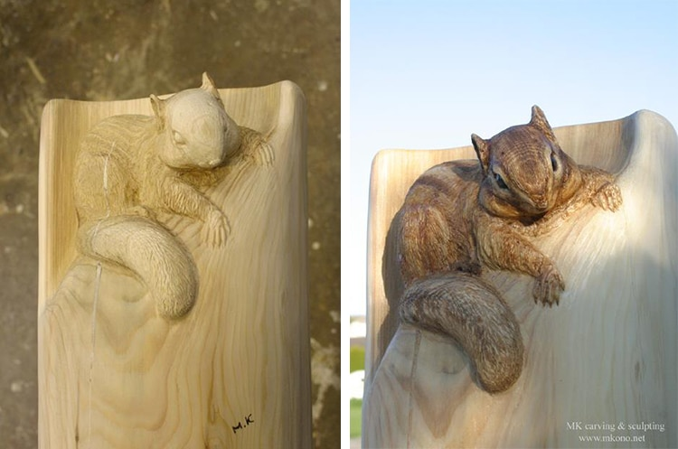 Animal Woodcarving Sculptures by Mori Kono