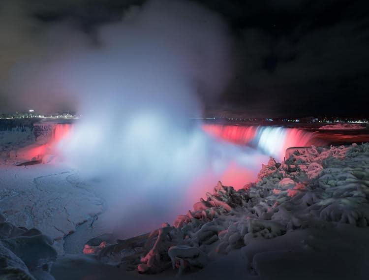 Frozen Niagara Falls by Adam Klekotka