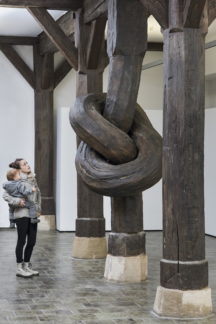 Alex Chinneck wood knot