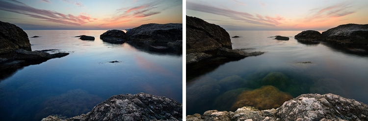 how to use a polarizing filter in seascape photography