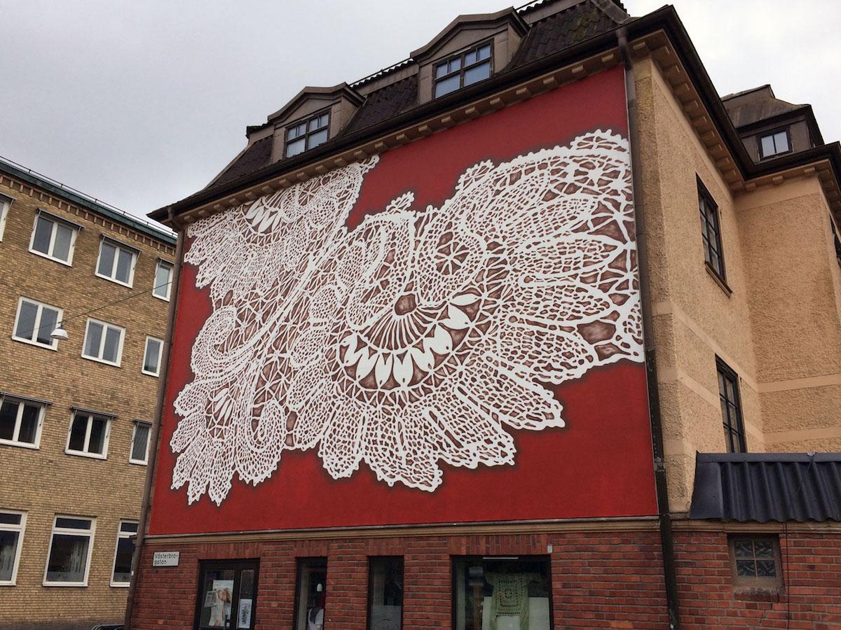 NeSpoon Lace Street Art
