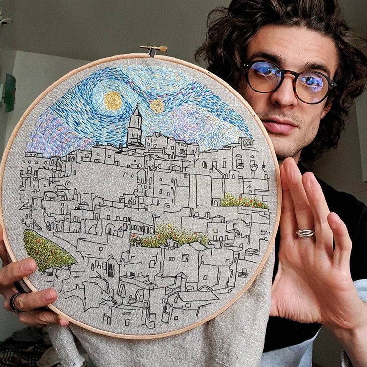 Architectural Embroidery Designs by Le Kadre