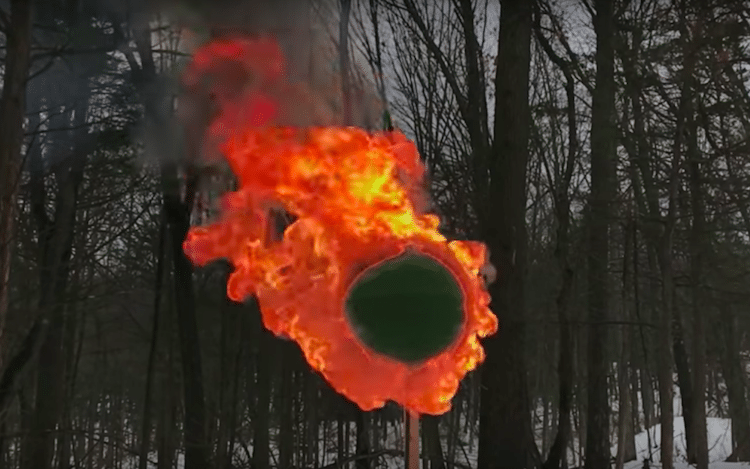 Match Sphere Set on Fire