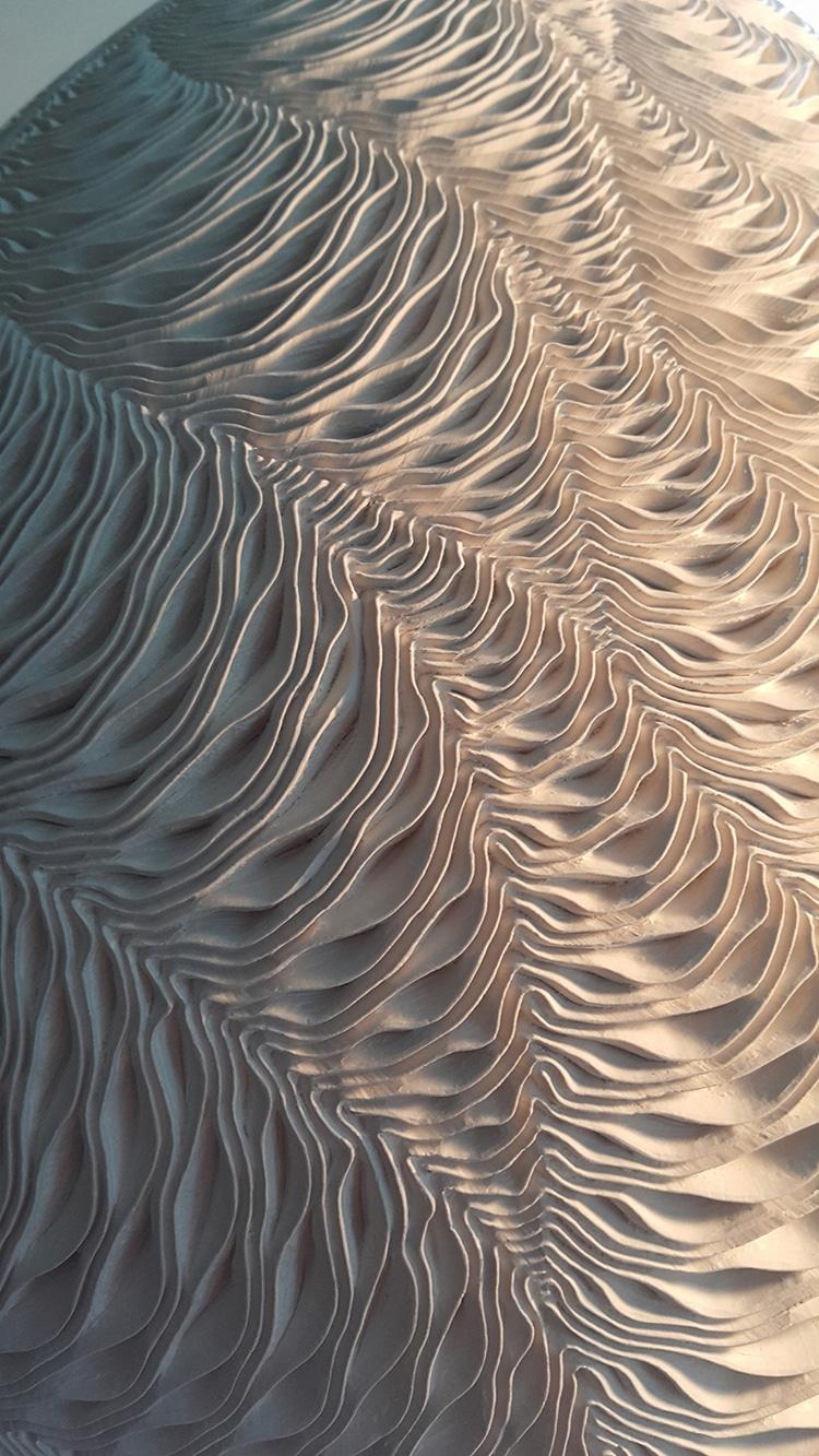 Vases en céramique avec motif Ocean Waves par Lee Jong Min