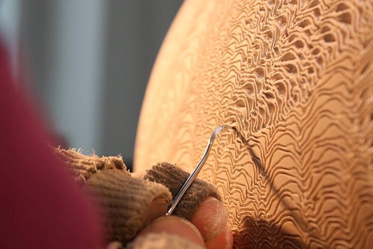 Ceramic Vases with Ocean Waves Pattern by Lee Jong Min