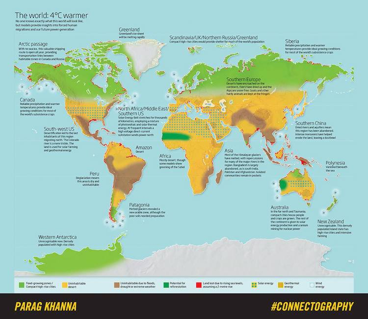 global warming map by parag khanna