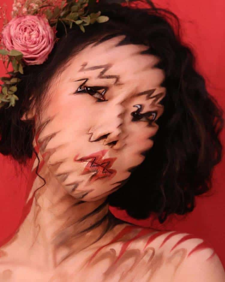 Optical Illusion Makeup by Dain Yoon