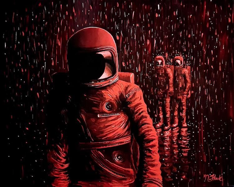 Astronaut Painting