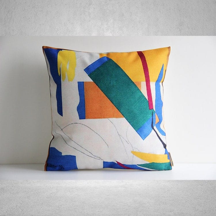 Abstract Paint Pillow