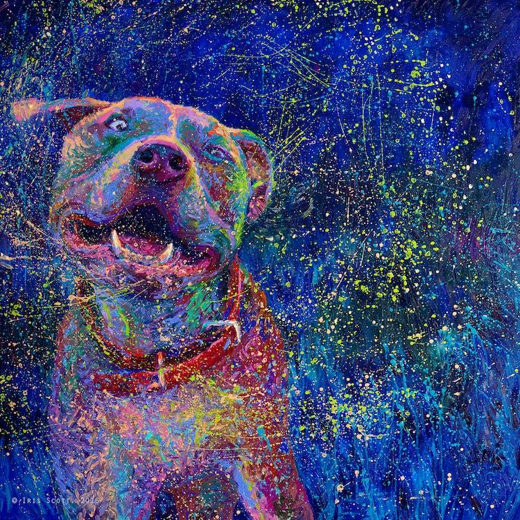 Iris Scott Finger Painting Collage Painting Iris Scott Solo Show