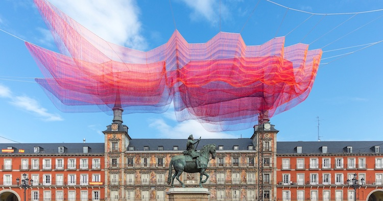 1.78 Madrid, a Sculpture by Janet Echelman
