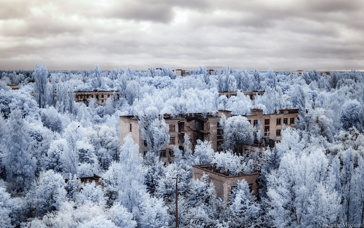 Infrared Photos of Chernobyl