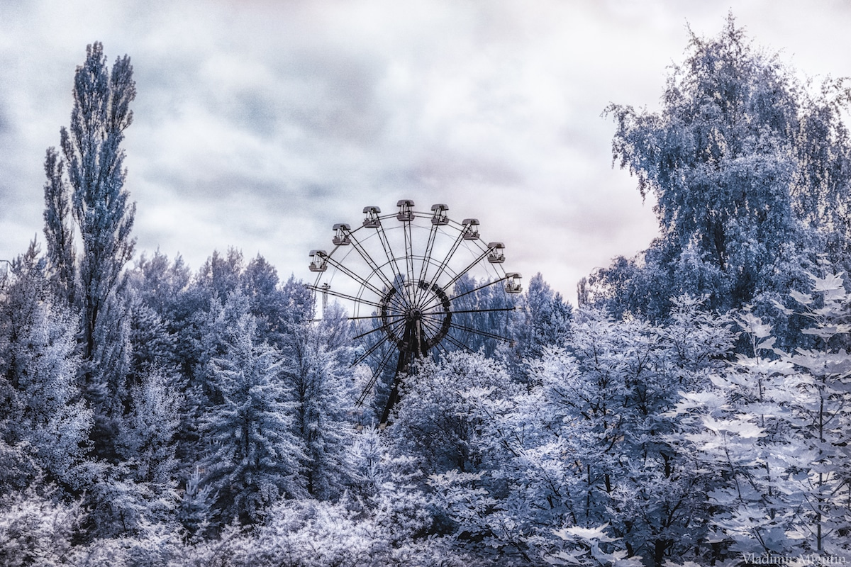 Chernobyl Exclusion Zone - Infrared Photography by Vladimir Migutin for Kolari Vision