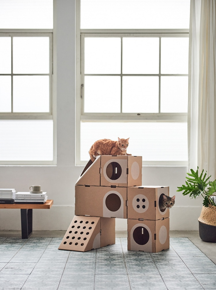 modern cat furniture modular cardboard cat furniture is an changing playground 11475