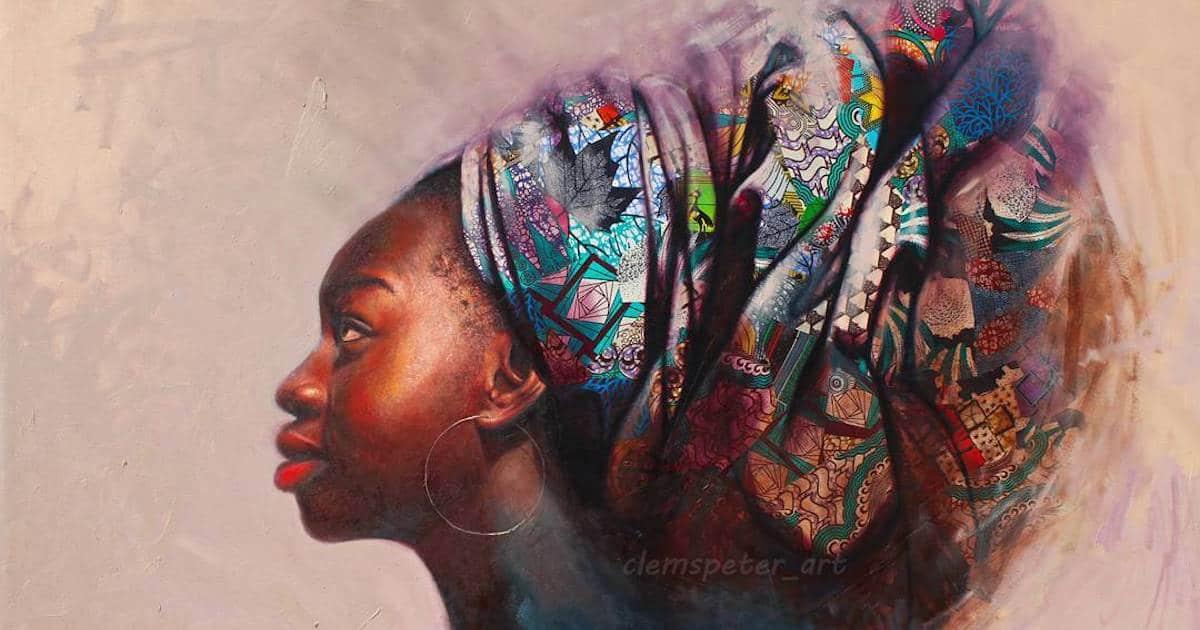 Nigerian Artist Creates Realistic Oil Portraits